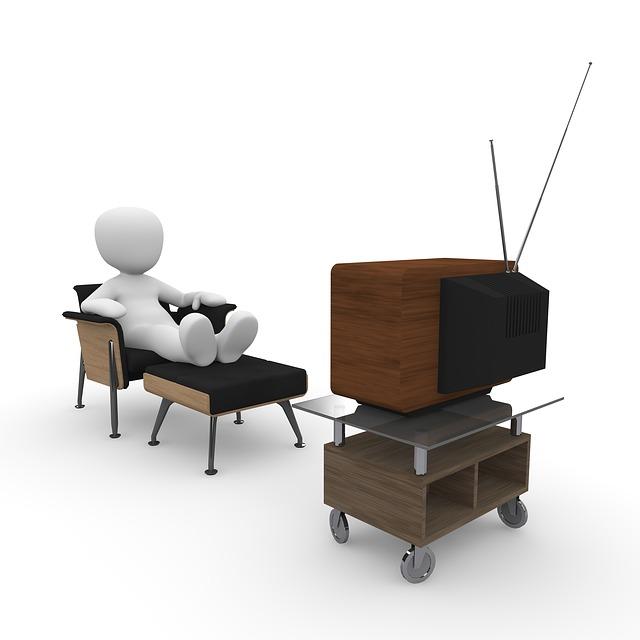 pohodlné sledování tv