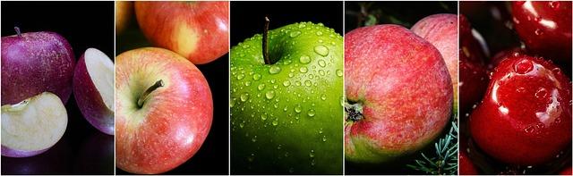 série obrázků jablko