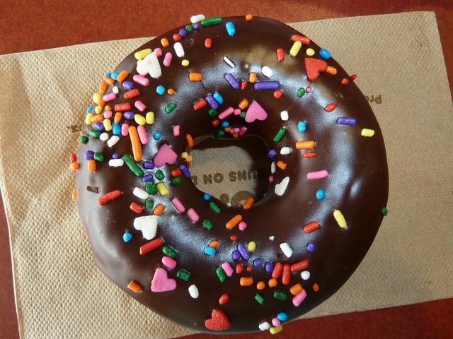 sypaný donut